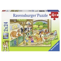 "Ravensburger (09195) - ""Day at the farm"" - 24 brikker puslespil"