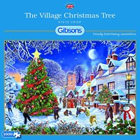 "Gibsons (G6224) - Steve Crisp: ""The Village Christmas Tree"" - 1000 brikker puslespil"