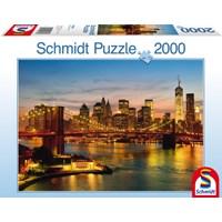 "Schmidt Spiele (58189) - ""New York"" - 2000 brikker puslespil"