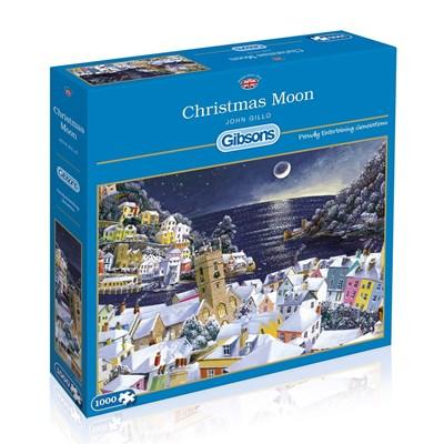 """Gibsons (G6198) - John Gillo: """"Christmas Moon"""" - 1000 brikker puslespil"""