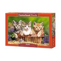 """Castorland (B-52561) - """"Three Lovely Kittens"""" - 500 brikker puslespil"""