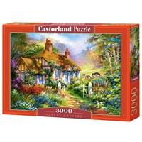 """Castorland (C-300402) - """"Forest Cottage"""" - 3000 brikker puslespil"""