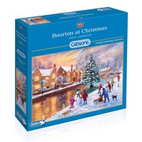"Gibsons (G3088) - Terry Harrison: ""Bourton at Christmas"" - 500 brikker puslespil"