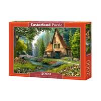 """Castorland (C-200634) - Dominic Davison: """"Toadstool Cottage"""" - 2000 brikker puslespil"""
