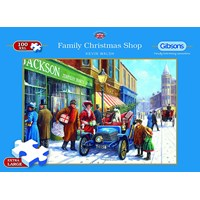 "Gibsons (G2214) - Kevin Walsh: ""Family Christmas Shop"" - 100 brikker puslespil"