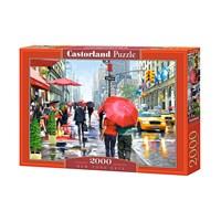 "Castorland (C-200542) - Richard Macneil: ""New York Cafe"" - 2000 brikker puslespil"