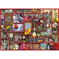 "Ravensburger (19398) - Colin Thompson: ""The Red Box"" - 1000 brikker puslespil"