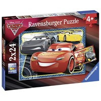 "Ravensburger (07816) - ""Cars 3: Adventure with Lightning McQueen"" - 24 brikker puslespil"