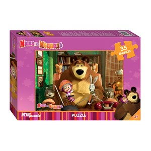 "Step Puzzle (91211) - ""Masha and The Bear"" - 35 brikker puslespil"