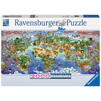 """Ravensburger (16698) - """"World Wonders"""" - 2000 brikker puslespil"""
