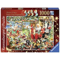 "Ravensburger (19558) - ""Santa's Final Preparations"" - 1000 brikker puslespil"
