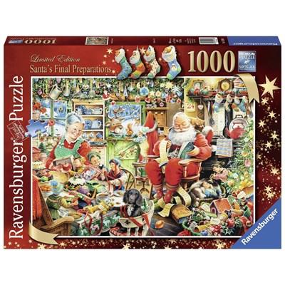 "Ravensburger (19558) - ""Santa's Final Preparations"" - 1000 brikker puslespil"