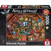 """Schmidt Spiele (59379) - Aimee Stewart: """"Treasures under the Roof"""" - 1000 brikker puslespil"""