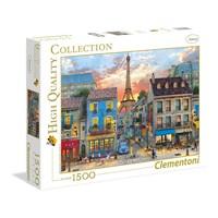 "Clementoni (31679) - Dominic Davison: ""Streets of Paris"" - 1500 brikker puslespil"