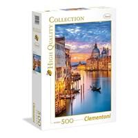 "Clementoni (35056) - ""Lighting Venice"" - 500 brikker puslespil"
