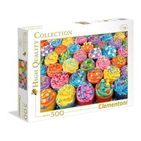 "Clementoni (35057) - ""Colorful Cupcakes"" - 500 brikker puslespil"