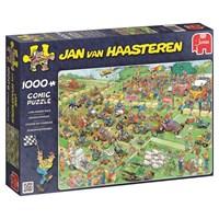"Jumbo (19021) - Jan van Haasteren: ""Plæneklipper race"" - 1000 brikker puslespil"