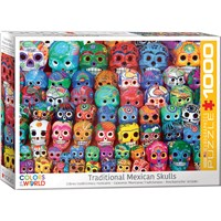 """Eurographics (6000-5316) - """"Traditional Mexican Skulls"""" - 1000 brikker puslespil"""