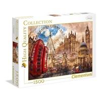 """Clementoni (31807) - """"Vintage London"""" - 1500 brikker puslespil"""