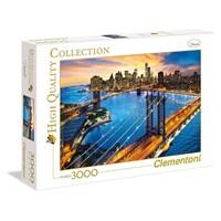 "Clementoni (33546) - ""New York"" - 3000 brikker puslespil"