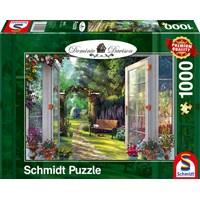 "Schmidt Spiele (59592) - Dominic Davison: ""View of the Enchanted Garden"" - 1000 brikker puslespil"