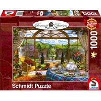 """Schmidt Spiele (59593) - Dominic Davison: """"View from the Conservatory"""" - 1000 brikker puslespil"""
