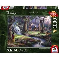 """Schmidt Spiele (59485) - Thomas Kinkade: """"Snow White"""" - 1000 brikker puslespil"""