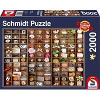 "Schmidt Spiele (58326) - ""Miniature Treasures"" - 2000 brikker puslespil"