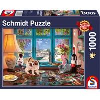 "Schmidt Spiele (58344) - ""At the Table"" - 1000 brikker puslespil"