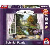 "Schmidt Spiele (59590) - Dominic Davison: ""View of the Castle Gardens"" - 1000 brikker puslespil"