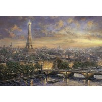 "Schmidt Spiele (58470) - Thomas Kinkade: ""Paris City of Love"" - 1000 brikker puslespil"