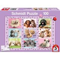 "Schmidt Spiele (56268) - ""My Animal Friends"" - 100 brikker puslespil"