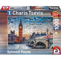 "Schmidt Spiele (59579) - Charis Tsevis: ""London"" - 1000 brikker puslespil"