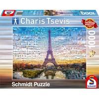 """Schmidt Spiele (59580) - Charis Tsevis: """"Paris"""" - 1000 brikker puslespil"""