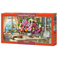 "Castorland (C-400263) - ""Summer Flowers and Cup of Tea"" - 4000 brikker puslespil"