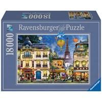 "Ravensburger (17829) - ""Evening Walk in Paris"" - 18000 brikker puslespil"