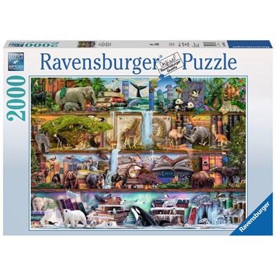 "Ravensburger (16652) - Aimee Stewart: ""Amazing Animal Kingdom"" - 2000 brikker puslespil"