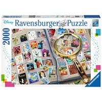 """Ravensburger (16706) - """"Disney Stamp Album"""" - 2000 brikker puslespil"""