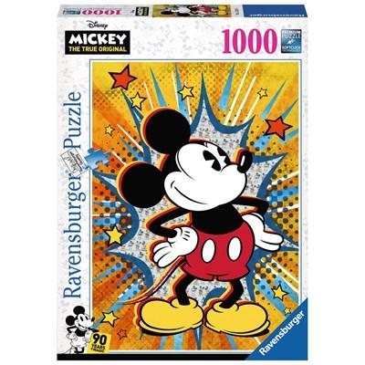 "Ravensburger (15391) - ""Retro Mickey Mouse"" - 1000 brikker puslespil"