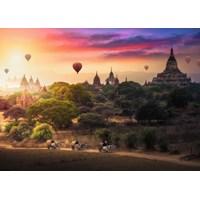 "Ravensburger (15153) - ""Hot Air Balloons over Myanmar"" - 1000 brikker puslespil"