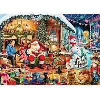 "Ravensburger (15354) - ""Jultomten"" - 1000 brikker puslespil"