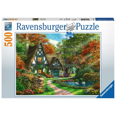 """Ravensburger (14792) - """"Cottage Hideaway"""" - 500 brikker puslespil"""