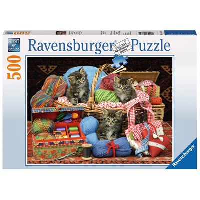 """Ravensburger (14785) - """"Knitter's Delight"""" - 500 brikker puslespil"""