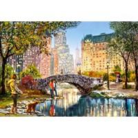 "Castorland (C-104376) - ""Evening Walk Through Central Park"" - 1000 brikker puslespil"