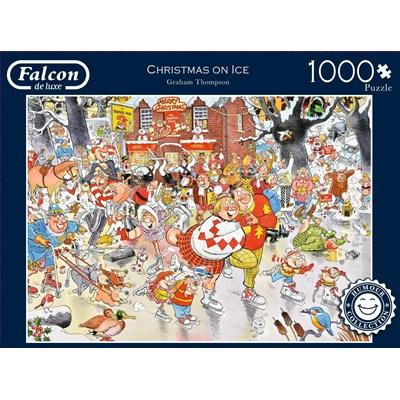 "Falcon (11223) - Graham Thompson: ""Christmas on Ice"" - 1000 brikker puslespil"