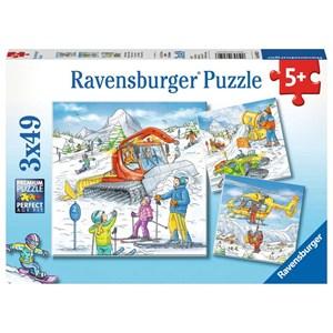 "Ravensburger (08052) - ""On the Ski Slope"" - 49 brikker puslespil"