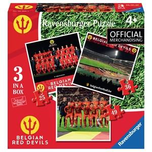 """Ravensburger (06968) - """"Belgian Red Devils"""" - 25 36 49 brikker puslespil"""