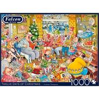 "Falcon (11279) - Graham Thompson: ""Twelve Days of Christmas"" - 1000 brikker puslespil"
