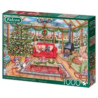 """Falcon (11275) - """"The Christmas Conservatory"""" - 1000 brikker puslespil"""