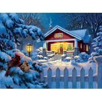 "SunsOut (55989) - Corbert Gauthier: ""Christmas Bungalow"" - 1000 brikker puslespil"